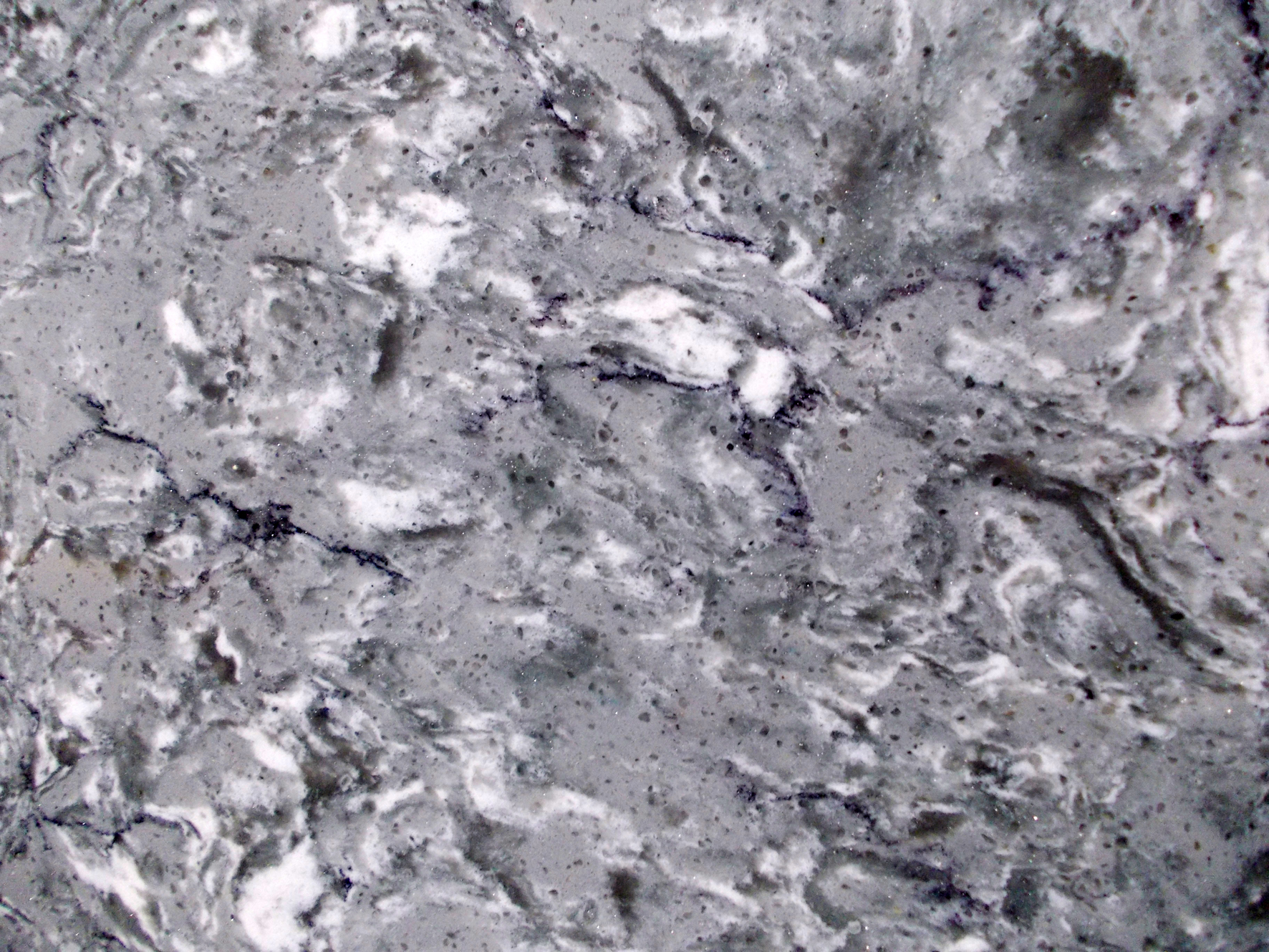 Figure 5 – The slabs produced with the most modern quartz surfacing lines are able to create much more intricate color variations, such as this Natura Bretonstone.