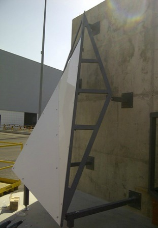 Figure 3 – The company Butech, in Spain, helped to develop the system to hang the panels prior to actual fabrication of the components in Minnesota.